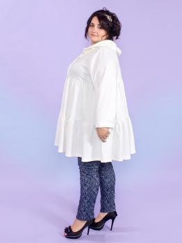 Лёгкое трикотажное пальто Идиллия